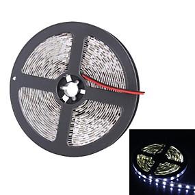 cheap Light Strips & Strings-5m Flexible LED Light Strips 300 LEDs 5050 SMD White Suitable for Vehicles / Self-adhesive 12 V