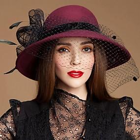 povoljno Melbourne Cup Carnival Hats-Drago kamenje i kristali / Vuna / Perje Kentucky Derby Hat / Fascinators / kape s Kristal 1 Special Occasion / Zabava / večer / Kauzalni Glava