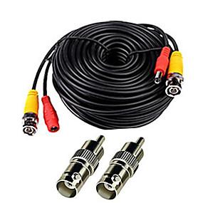 povoljno Sigurnosna oprema-Kabeli 150 Feet Video Power Cable for CCTV Surveillance System za sigurnosti sustavi 5000cm 0.7kg