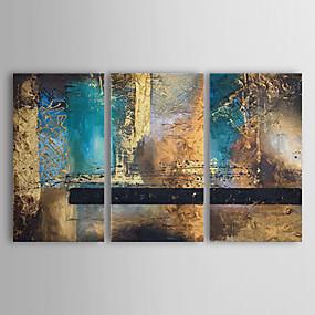 preiswerte Haus & Garten-Handgemalte Abstrakt Horizontal Segeltuch Hang-Ölgemälde Haus Dekoration Drei Paneele