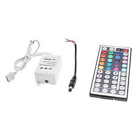 preiswerte Lichtschalter-zdm 44 key ir fernbedienung für led rgb-streifenlichter mit dc5.5x2.1 männlich verbindungsleitung dc12v