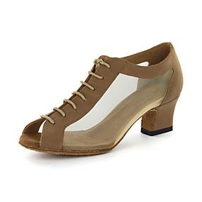cheap 11-11 Sale-Women's Dance Shoes Leatherette Modern Shoes / Ballroom Shoes Sandal Chunky Heel Customizable Black / Gold / EU43