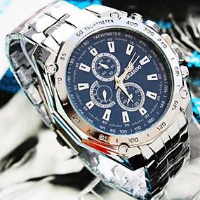 preiswerte Herrenuhren-Herrn Uhr Armbanduhr Aviation Watch Quartz Legierung Silber Armbanduhren für den Alltag Analog Charme Weiß Schwarz Blau / Ein Jahr / Jinli 377
