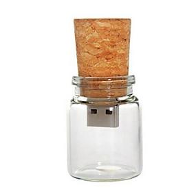 cheap Top Sellers-8GB usb flash drive usb disk USB 2.0 Wooden Cartoon Compact Size Drift bottle