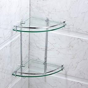 preiswerte Wandsticker-Badezimmer Regal Moderne Edelstahl / Glas 1 Stück - Hotelbad