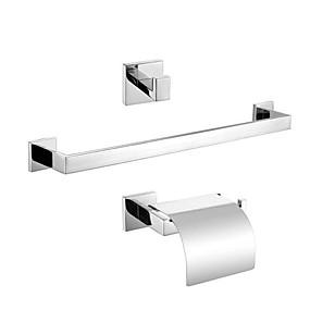 preiswerte Produkte für das Badezimmer-Bad Zubehör-Set Moderne Edelstahl 3 Stück - Hotelbad Toilettenpapierhalter / Kleiderhaken / Turm Bar