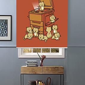 povoljno Poboljšanje uvjeta stanovanja-Lovely Cute Cartoon Kitties Roller Shade