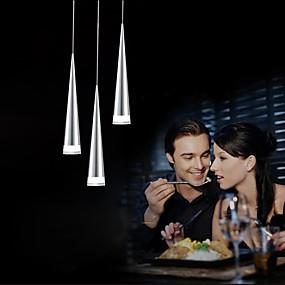 povoljno Viseća rasvjeta-UMEI™ 3-Light Privjesak Svjetla Downlight Chrome Metal LED 90-240V Meleg fehér / Bijela Bulb Included / Integrirano LED svjetlo