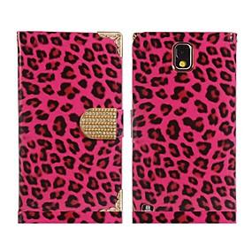 povoljno Maske za mobitele-Θήκη Za Samsung Galaxy Note 3 Utor za kartice / sa stalkom / Zaokret Korice Uzorak leoparda PU koža