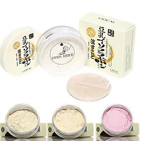 preiswerte Verschiedene gepresste Puder-3 Farben Puder Trocken / Matt Weiß machen Gesicht Bilden Kosmetikum
