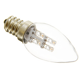 billige Stearinlyslamper med LED-1pc 1 W LED-lysestakepærer 15-20 lm E12 C35 4 LED perler Dekorativ Varm hvit Kjølig hvit 220-240 V / RoHs