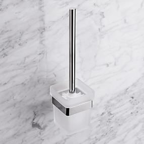 preiswerte Toilettenbürstenhalter-Zeitgenössische Quadrate Edelstahl WC-Bürstenhalter