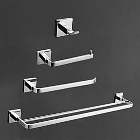 preiswerte Produkte für das Badezimmer-Bad Zubehör-Set Moderne Messing 4pcs - Hotelbad Toilettenpapierhalter / Kleiderhaken / Turm Bar Wandmontage