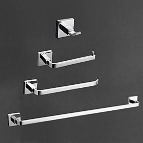 preiswerte Produkte für das Badezimmer-Bad Zubehör-Set Moderne Messing 4pcs - Hotelbad Toilettenpapierhalter / Kleiderhaken / Turm Bar