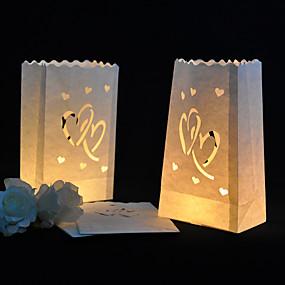 preiswerte Seidenpapier Blumen-Kerzen & Kerzenständer Fasergemisch Hochzeits-Dekorationen Hochzeitsfeier Garten / Klassisch Ganzjährig