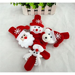 preiswerte Spielzeug für Weihnachten-Weihnachts Geschenke Spielzeug für Weihnachten Leucht-Armband Schneemann Niedlich Weihnachtsmann Textil Kinder Jungen Mädchen Spielzeuge Geschenk 1 pcs