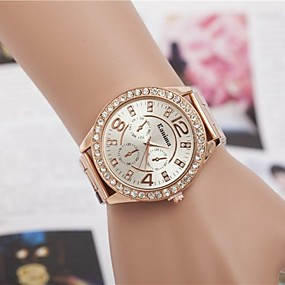 preiswerte Damenuhren-Damen Uhr Luxus-Armbanduhren Armbanduhr Diamond Watch Quartz Legierung Silber / Gold / Rotgold Analog damas Glanz Modisch Silber Golden Rotgold / Ein Jahr / Ein Jahr / Jinli 377