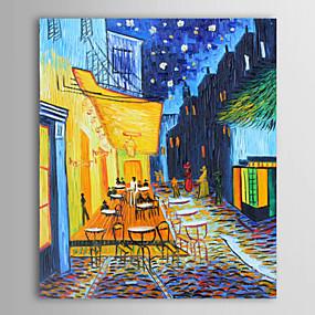 povoljno Slike krajolika-ručno oslikano ulje na platnu krajolik portret kavana terasa-vincent van gogh rastegnuto platno