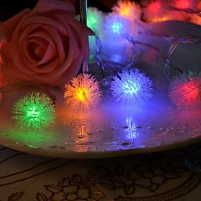 cheap Light Strips & Strings-220V 5m 26 LEDs Dip LED Christmas Party Decorative Lovely RGB
