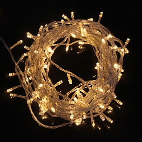 preiswerte Weihnachtsbeleuchtung-ZDM® 10m Leuchtgirlanden 100 LEDs LED Diode Warmes Weiß / Kühles Weiß Wasserfest / Dekorativ / Weihnachtshochzeitsdekoration 220-240 V 1pc / IP65