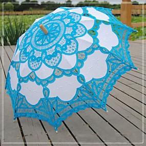 """levne Doplňky pro květinové družičky-Krajka Svatební Denní Plesová maškaráda Plážové Deštník Deštníky 78 cm (cca 30,7"""")"""