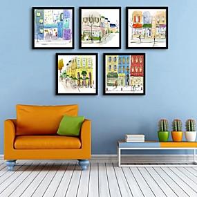 preiswerte Versandfertig in 24 Stunden-Gerahmtes Leinenbild Gerahmtes Set - Architektur PVC Darstellung Wandkunst