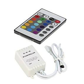 preiswerte Lichtschalter-zdm dc12v 24-key led streifen ir fernbedienung mit controller box für 3528 5050 smd rgb led streifenlichter
