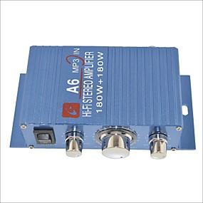 billige Lydanlegg til bilen-a6 180w hi-fi stereoforsterker for bil / MC-blå