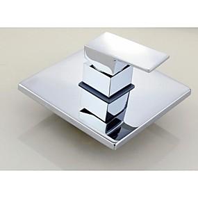 preiswerte Meist Verkaufte-Duscharmaturen - Moderne Chrom Wandmontage Keramisches Ventil Bath Shower Mixer Taps / Messing / Einhand Ein Loch