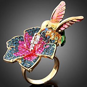 billige Vintage Ring-Dame Statement Ring Kubisk Zirkonium Skjermfarge Kubisk Zirkonium Legering damer Mote Fest Smykker Fugl Dyr