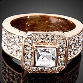 billige Vintage Ring-Dame Statement Ring Krystall Gull Sølv Kubisk Zirkonium Fuskediamant Legering damer Luksus Mote Fest Smykker Solitaire