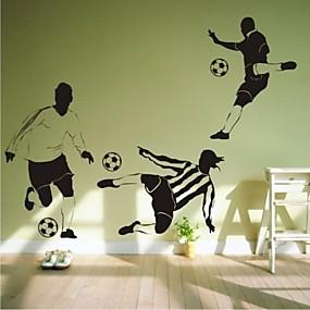 preiswerte Gifts for Soccer Fans-wandaufkleber aufkleber, zeitgenössische fußball pvc-wandaufkleber 1pc