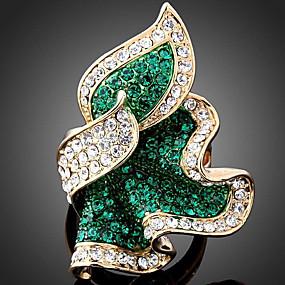 ราคาถูก แหวนวินเทจ-สำหรับผู้หญิง คำชี้แจง Ring Cubic Zirconia เพชรจิ๋ว สีบานเย็น สีเขียว ฟ้า Cubic Zirconia เลียนแบบเพชร โลหะผสม โอชะ สุภาพสตรี ความหรูหรา ปาร์ตี้ เครื่องประดับ กลุ่ม