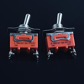 cheap Switches-Toggle Switch (Feet Second Gear) 15A 250VAC(2Pcs)