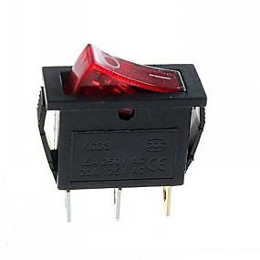 preiswerte Steckdosen & Sockel-3-Pin-Stecker 2-Stufen-Kippschalter mit Licht (15a / 250v 20a / 125v ac) - (5 Stück)