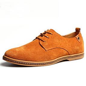 levne Větší obuv-Pánské Suede Shoes Koženka Jaro / Podzim Bristké Oxfordské Hnědá / Zelená / Khaki / Šněrování / Komfortní boty / EU40