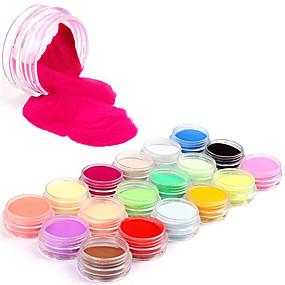 cheap Nail Glitter-18 18pcs Acrylic Glitter Powder Abstract Acrylic Powder Glitter Powder for Finger Toe