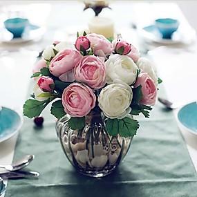 preiswerte Up To 80% Off For Home Decor-Künstliche Blumen 1 Ast Simple Style Rosen Tisch-Blumen
