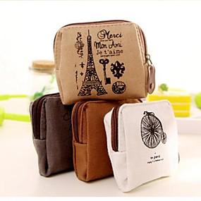 preiswerte Taschen & Geldbörsen-Erinnerung an paris Baumwolle und Leinen Portemonnaie (1 Stück zufällige Farbe)