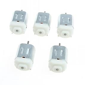 preiswerte Hauptplatine-130 Miniatur-Gleichstrommotoren kleiner Motor kleine vierrädrige Kraft (5 Stück)