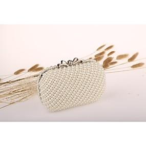 preiswerte Taschen-Damen Perlen Verzierung Acryl Abendtasche Weiß / Elfenbein