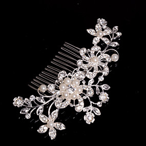 cheap Wedding & Party Jewelry-Alloy Hair Combs / Headwear with Floral 1pc Wedding / Special Occasion / Casual Headpiece