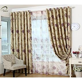 preiswerte Fensterdekoration-Fertig Verdunkelnd Verdunklungsvorhänge Vorhänge Ein Panel 107 x 244cm / Schlafzimmer