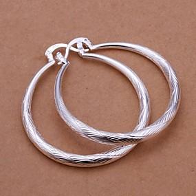 preiswerte Ohrringe-Damen Tropfen-Ohrringe Machete damas Italienisch Alltäglich Sterling Silber Ohrringe Schmuck Silber Für Hochzeit Party Alltag Normal