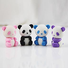 preiswerte Zurück zur Schule-Cartoon Panda abnehmbare diy Gummi Radiergummi Student Kinder Preise Geschenk Spielzeug zusammenbauen