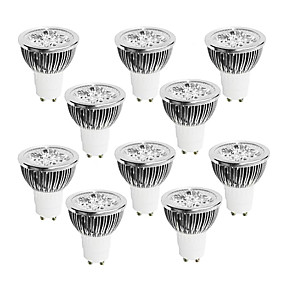 cheap Dimmable Bulbs-10 pcs 4W GU10 Dimmable LED Light Cup 220V White  Warm White  Natural Light