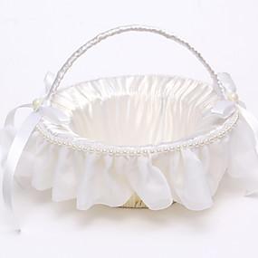 """povoljno Darovi i pokloni za zabave-Flower Basket Saten / Ratan 8 3/5 """"(22 cm) Faux Pearl / Uzde / Ratan 1 pcs"""
