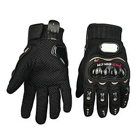 billige Spesialtilbud-Motorsykkel hansker Full Finger Polyutrethane/Bomull/Nylon/ABS M/L/XL Rød/Svart/Blå