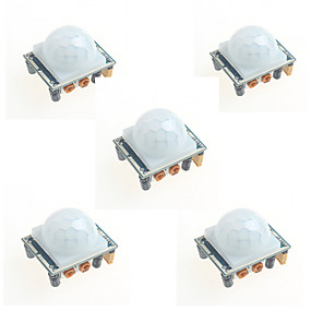 preiswerte Sensoren-5pcs hc-SR501 Infrarotinduktion des menschlichen Körpers Modul PIR-Sensor-Sonde für Arduino