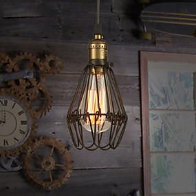 povoljno Viseća rasvjeta-Privjesak Svjetla Ambient Light Slikano završi Metal Mini Style 110-120V / 220-240V Meleg fehér Bulb Included / E26 / E27